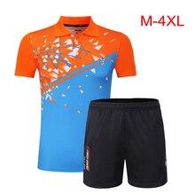 Топ Крутой набор для мужчин и женщин для бадминтона, Теннисный комплект для девочек, форма Джерси, рубашка для бадминтона, шорты, одежда, спортивная одежда для тенниса 3868
