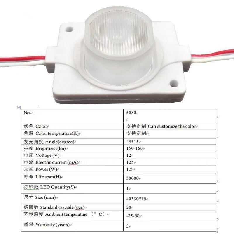 1,5 Вт боковой светильник источник боковой люминесцентный модуль круглый квадратный стерео светильник коробка Высокая мощность литья под