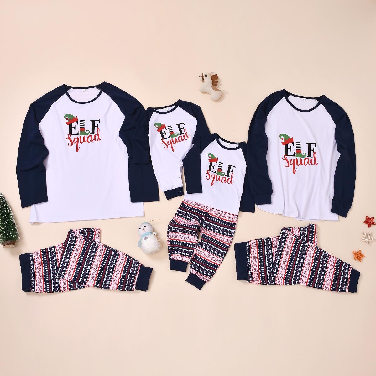 Matching Pajamas Christmas-Pajamas-Sets Sleepwear Outfits Look Baby's Family Kid