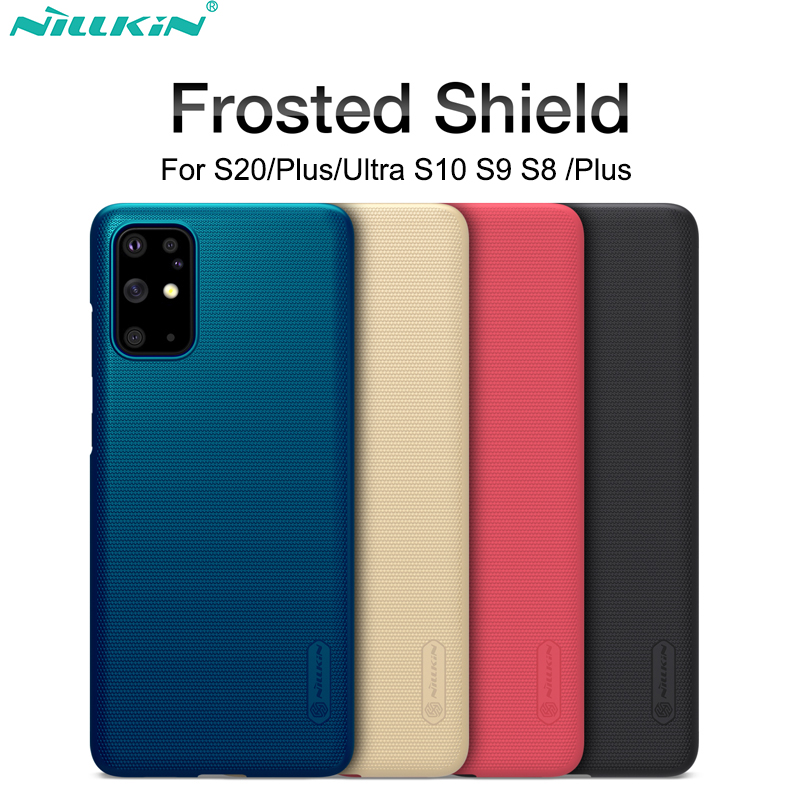ケースSamsung Galaxy S10 S9 S8 Plus S20 Ultra NILLKIN Super Frosted ShieldバックカバーSamsung S20 +ギフト電話ホルダー