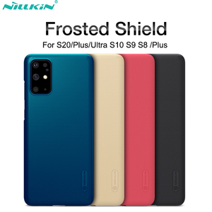 Case For Samsung Galaxy S10 S9 S8 Plus S20 Ultra NILLKIN Super Frosted Shield back cover For Samsung S20+ gift phone holder(China)