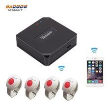 Sistema de alarma para el cuidado de ancianos, con WiFi, SOS, RF, 433MHz, botón de alarma de emergencia SOS, reloj, pulsera, Android iOS, Notificación por aplicación