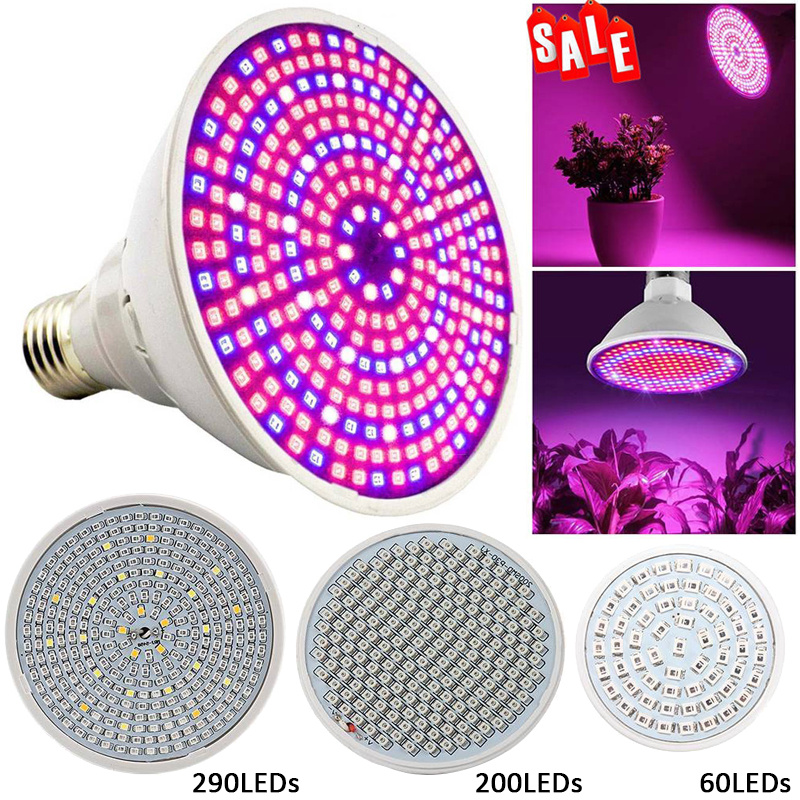 E27 60/200/290LED Full Spectrum Plant Grow Light Growing Lamp Bulb For Indoor Flower Hydro Light Lamp Bulb For Plant Hydroponic