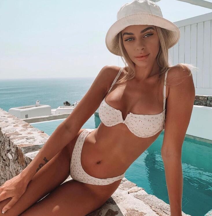 Sexy Print Bikini Swimsuit Low Waist Swimming Suit Women Push Up Swimwear High Quality Beachwear Hot Sale Bathing Suits New