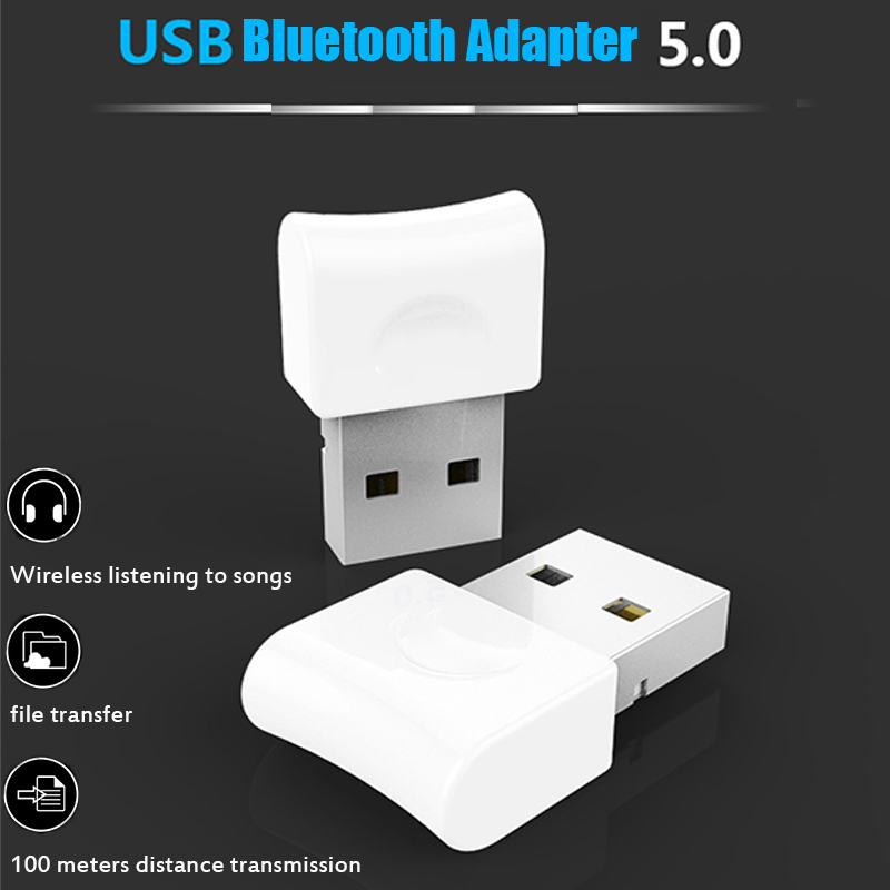 Asunflower USB Bluetooth V5.0 Adapter Dongle For PS4 Computer PC Mouse Aux Audio Bluetooth 5.0 For Speaker Music Receiver