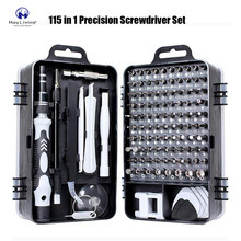 May Living Mini Precision Screwdriver Set with 115 Bits for Phone Computer PC Watch Glasses Appliance Repair Tools Screw Driver