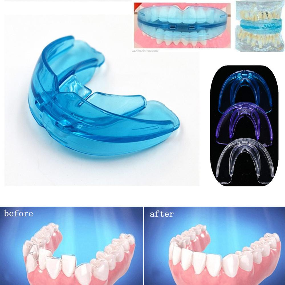 Dental Silicone Orthodontic Braces Appliance Braces Alignment Trainer Teeth Retainer Bruxism Mouth Guard Teeth Straightener image