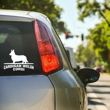 SARÀ STICKER CARDIGAN WELSH CORGI Cane di Modo di Auto-Adesivi Styling DecalsCar Sticker 15 CENTIMETRI(China)
