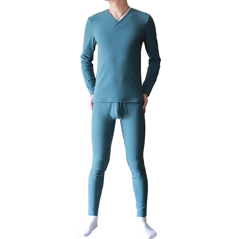 Thermal underwear for men compression underwear thermo lingerie thick double-faced fluff man's underwear bielizna long johns