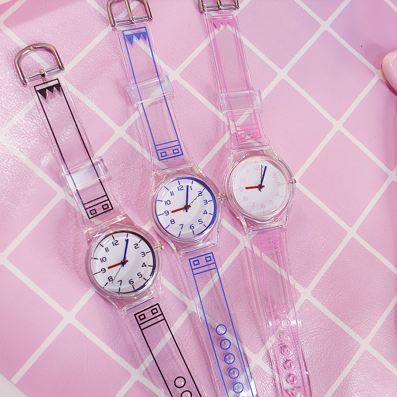 Creative Transparent Women's Watches Hot Sale Clear Ladies Watch Women Watches Young Girl Minimalist Clock Relogio Feminino