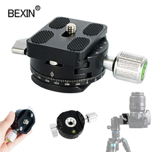 Mini camera clamp dslr quick release clamp tripod plate mount clip panoramic rotating clamp for arce adapter tripod camera