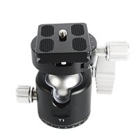 T1 Tripod head panoramic photo ballhead low profile compact ball head CNC machining built ball mount for camera