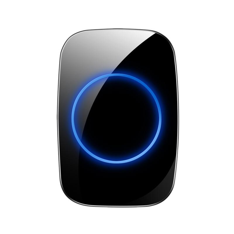 FFYY-Wireless Doorbell,Waterproof 300M Remote Smart Door Bell Chime For Home Office Villa Hospital School Factory Eu Plug
