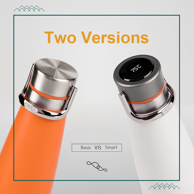 Nieuwe Kkf Thermos En Smart Temperatuur Display Vacuüm Fles 24 H Thermoskan 475 Ml Mok Rvs Cup