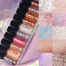 10 Colors Metallic Shiny Smoky Eyes Eyeshadow Waterproof Gli