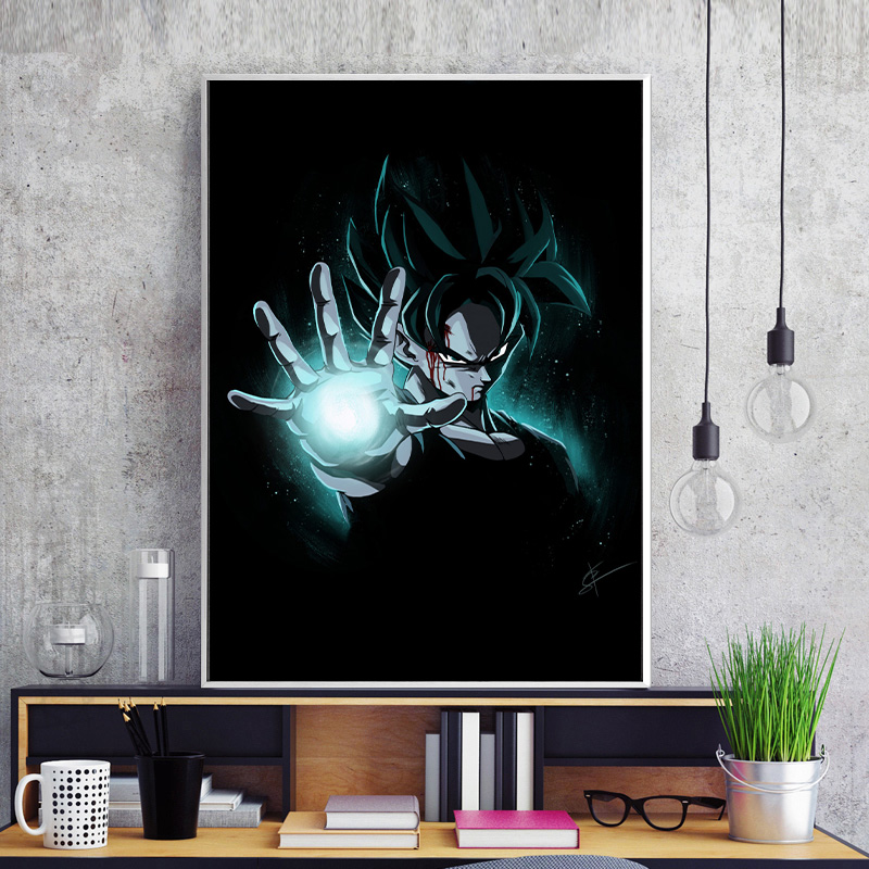 Unframed Anime Poster Dragon Ball Z Goku Black White Hd Print Canvas Painting Home Decor Wall Sticker Mural Painting Nice Gifts Painting Calligraphy Aliexpress