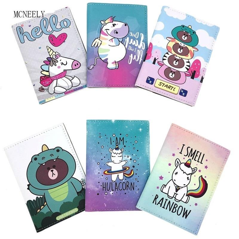 Cute Unicorn Travel  Passport Cover Women Passport Holder Travel Covers For Passports Girls Case For Passport Drop Shipping