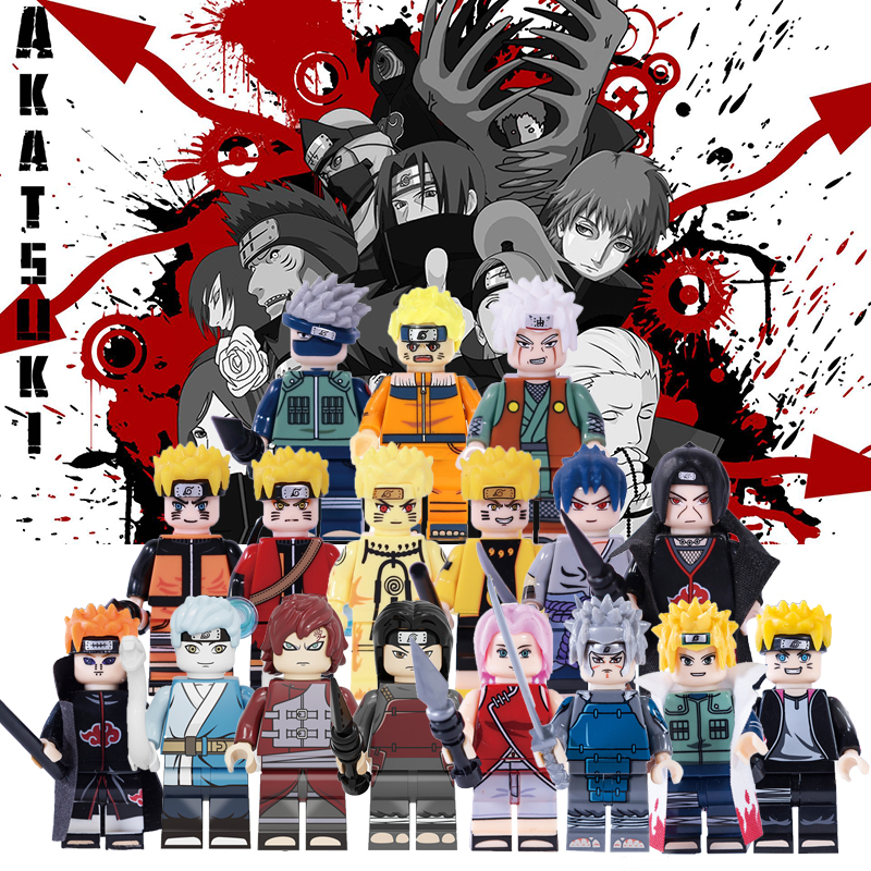 Naruto Anime Figures Building Blocks Uzumaki Boruto Mitsuki Gaara Namikaze Minato Tobirama Action Toy For Children KF6112 KF6078