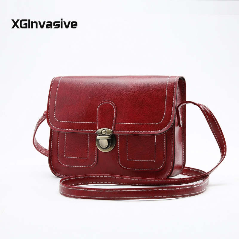 New Crossbody Bags For Women 2019 Leather Fashion Hasp Handbag Designer Small Shoulder Bag Flap Ladies Bolsa Feminin