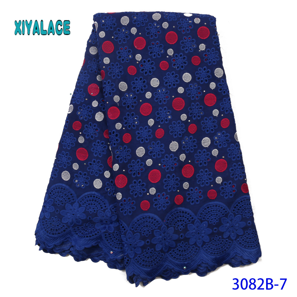 African Lace Fabric 2019 High Quality Lace Fabric Colorful Embroidery Empty Nigerian For Women Party Evening Dresses YA3082B-7