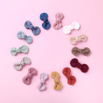 Baby Hair Clips Bow Girl Hairpins Corduroy Children Spring Summer Barrette Kids Candy Color Hair Accessories Infant Hairclip mini hat lace flower kids girls hair clips barrette style accessories for children hair hairclip ornaments hairpins head gifts
