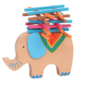 Wooden Toys Elephant Camel Balance Wood for Children Blocks Game For Kids Educational Montessori toys