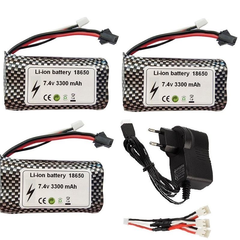 SM/JST 18650 7,4 V 3300mAh Lipo Batterie für wltoys 18301 18302 18311 MN99S D90 H101 Huina 1592 rc Boote Autos Tanks Drohnen Teile