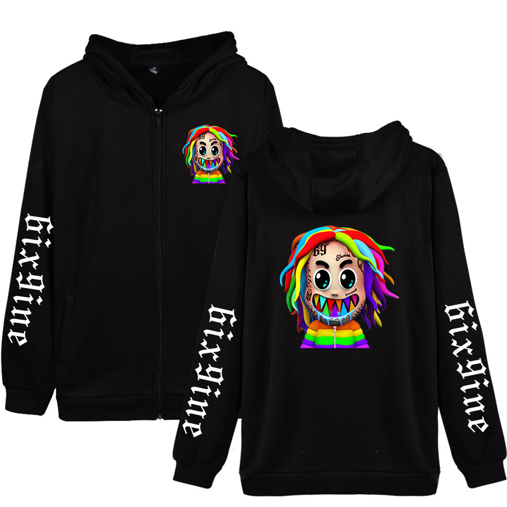 6ix9ine 2020 New Album GOOBA Hoodie Oversized Zipper Hoodies Women/Men Long Sleeve Sweatshirt Unisex Casual Tekashi69 Clothes