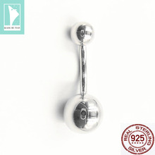 2019 fashion simple 925 silver Belly Ring Body Piercing body jewelry for women