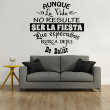 New spanish phrase sentences Modern Fashion Wall Art Stickers For Living Rooms Vinyl Mural Home Decor Sticker Quotes Wall Decals