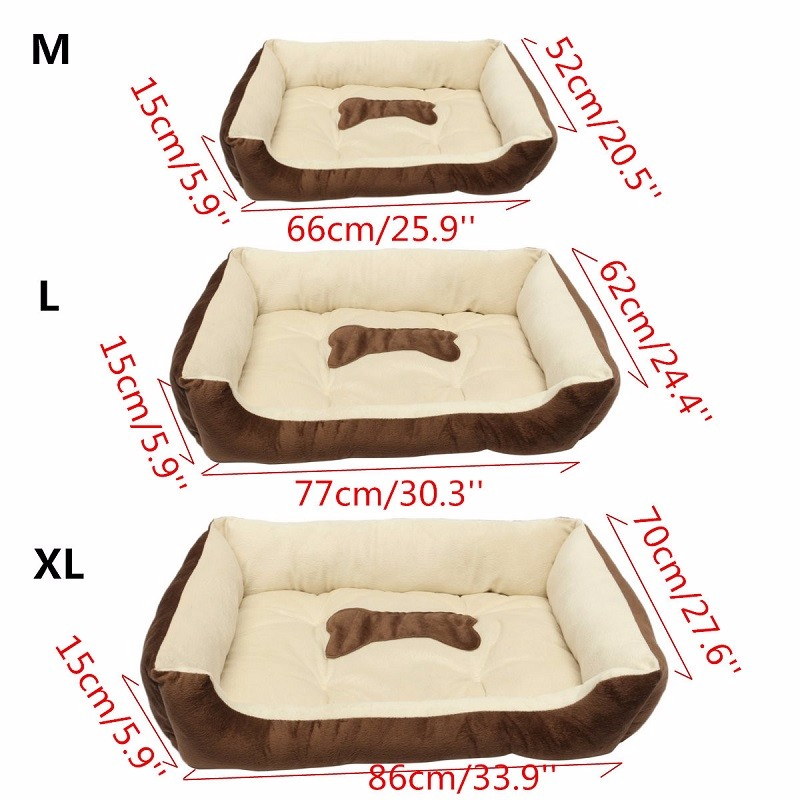 Bed For Dogs Warm Flannel Warm Waterproof Bottom Soft Fleece Warm Cat House Petshop Puppy Mats Kennel Play Rest Sleep Cushion 9