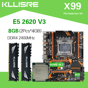 Kllisre X99 D4 motherboard set with Xeon E5 2620 V3 LGA2011-3 CPU 2pcs X 4GB =8GB 2400MHz DDR4 memory(China)