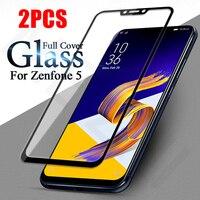 Per ASUS Zenfone 5 ZE620KL Protezione Dello Schermo 2pcs Della Copertura Completa di Protezione Dello Schermo di Vetro Temperato Pellicola per Zenfone 5 ZE620KL 5Z di vetro