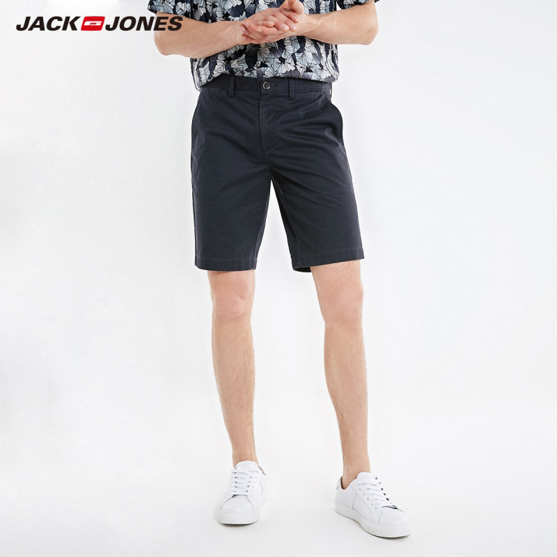 JackJones Men's Spring Fashion 100% Cotton Multi-colored Shorts Basic Menswear| 219215507