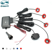 GreenYi 13MM capteurs réglables plats capteur de stationnement de voiture détecteur de Radar de sauvegarde inverse Parktronic avec alerte sonore 6 couleurs