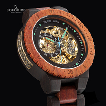 Relogio Masculino בובו ציפור מכאני שעון גברים עץ שעוני יד אוטומטי часы мужские relojes para hombre Custom מתנה Dropship
