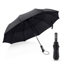 Wind Resistant Folding Automatic Umbrella Rain Luxury Umbrella Rain Women Big Windproof Umbrellas Rain For Man And Women wind resistant three fold automatic umbrella rain women auto luxury big windproof umbrellas men black coating 10k parasol gift