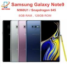 Мобильный телефон Samsung Galaxy Note9 N960U1 N960U, 128 Гб ПЗУ, 6 ГБ ОЗУ, LTE восемь ядер, 6,4 дюйма, NFC, Snapdragon 845, Оригинальный сотовый телефон