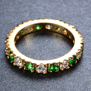 Image 5 - Bague Ringen Silver 925 Ring With 3MM Zircon Emerald Gemstone Hopping Retro Gorgeous Classic Ring Woman Jewerly  Gift size5 9