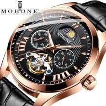 ファッショントゥールビヨン自動腕時計メンズビジネス機械式時計 FNGEEN