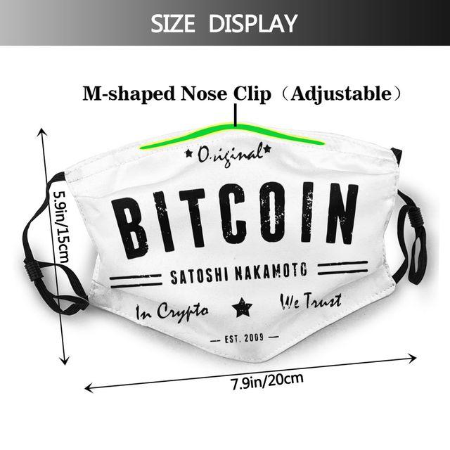 Bitcoin Satoshi Crypto Logo Non-Disposable Mouth Face Mask 2