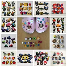 100PCS Trolls Tsum Tsum Harry Potter Pikachu PVC Shoe Charms,Shoe Buckles Accessories Fit Bands Bracelets Croc JIBZ,Party Gift 16pcs mickey minnie pvc shoe charms shoe accessories shoe buckle for wristbands croc kids favor gift