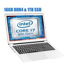 GMOLO 15,6 inch в * тел I7 8550U 8th Gen ноутбук 4-х ядерный 8-нити 16 Гб DDR4 Оперативная память 1 ТБ SSD игровой ноутбук с алюминиевым корпусом компьютера