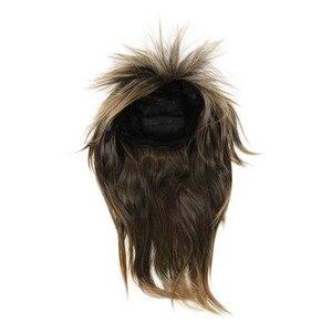 80s LADIES GLAM PUNK ROCK ROCKER CHICK TINA TURNER peruka na przebranie kostiumu-brązowy czarny