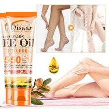 SPF50 + vitamina E-crema protectora solar para el cuerpo, crema protectora solar, crema hidratante para la piel, Control del aceite, efecto múltiple, mantiene la piel blanca