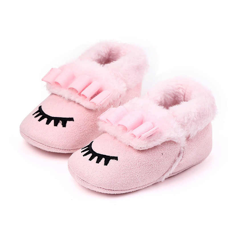 Zapatos de bebé de algodón espesar los zapatos de niño recién nacido suela suave invierno Infante niño primeros Walkers zapatos niñas Schoenen Meisje