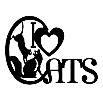 I Love Cats Kittens Animal Cartoon Car Stickers Styling Bumper Window for Bmw E46 Cover Scratches Decal Accessories PVC9cm X7cm image