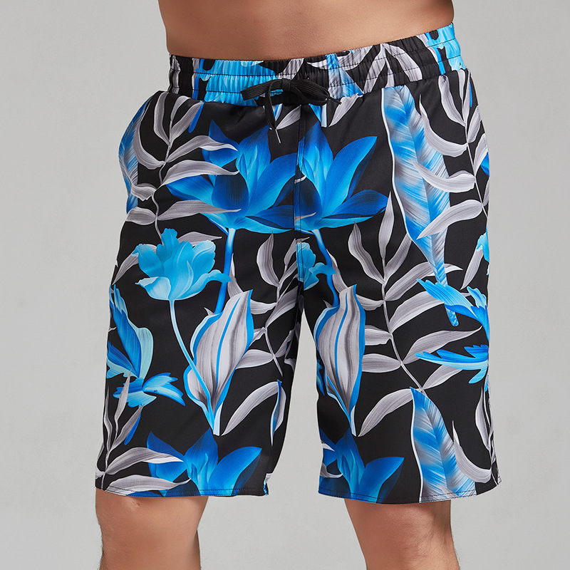 Summer Men's Quick-Dry Beach Shorts Swimming Trunks Seaside Holiday Loose Comfortable Large Size Flower Pants Trend Youth Shorts