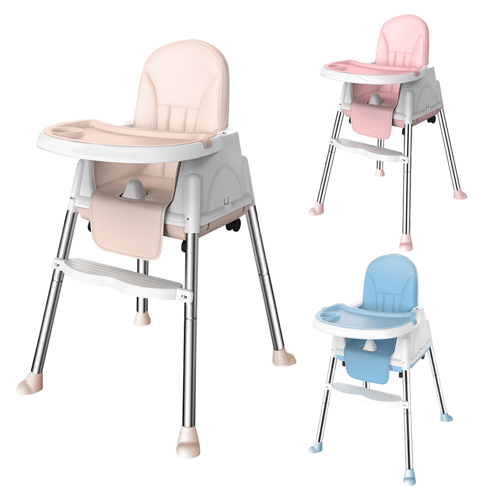 Portable Baby Seat Baby Dinner Table Baby Dining Chair Height Adjustable High Chair With Feeding Tray Child Dining Chair