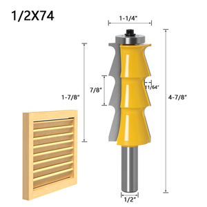 """Image 2 - 1pc Louver Shutter Style Router Bit   1/2"""" Shank 12mm shank door knife Woodworking cutter Tenon Cutter for Woodworking Tools"""